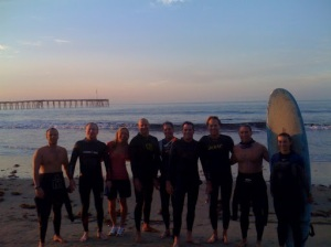 "C-Street Swimmers (aka ""Sea Lion Pups"") before their open water swim in Ventura, CA"