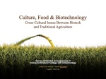 Culture, Food & Biotechnology