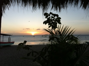 Sunset at Playa Gigante, Nicaragua