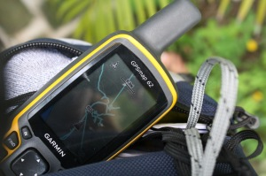 Research tool: Garmin GPSMaps 62 - Not the best GPS, but one I could afford for this project. Photo: AR Kirwin