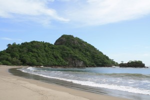 "Playa Gigante got its name from Pie de Giganté (""Giant's Foot"") is a rocky outcropping that is an ecologicla protected area."